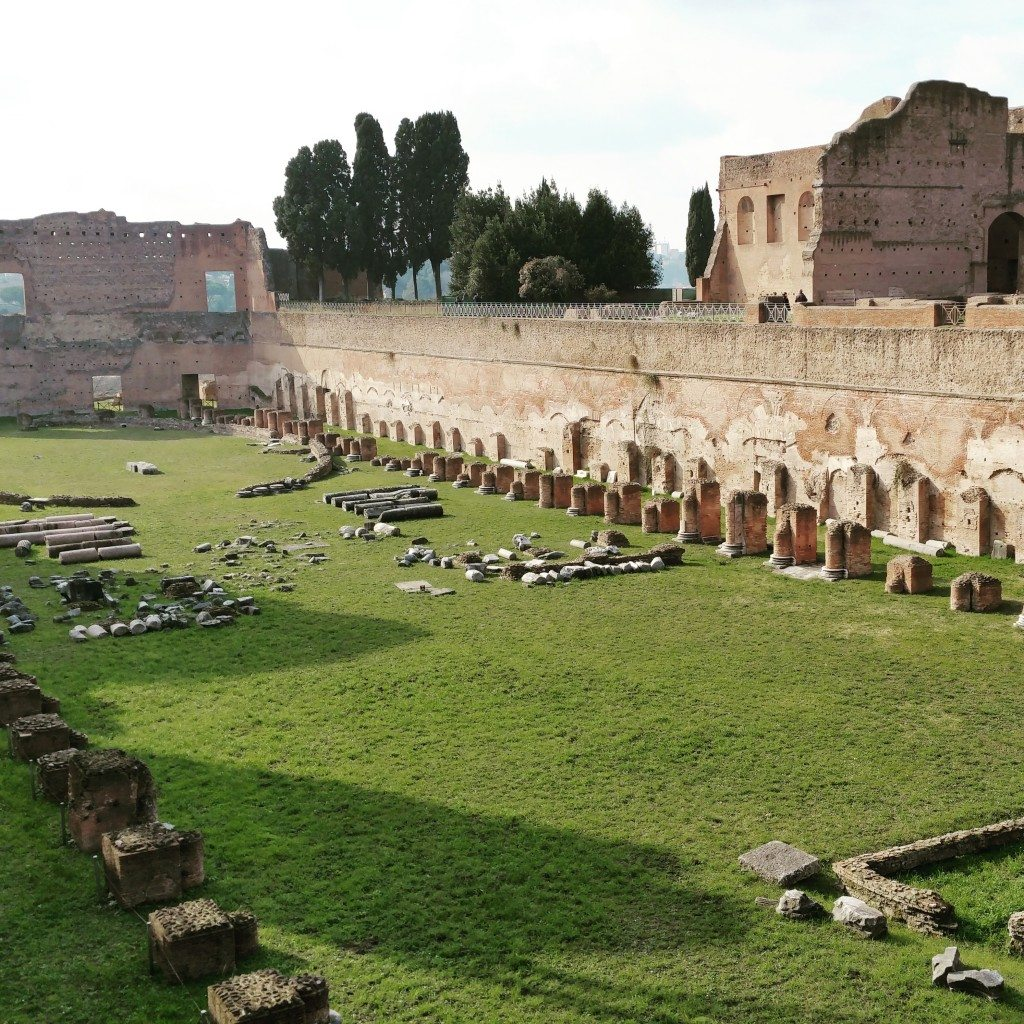 The Palatine stadium, as seen during our Rome visit.