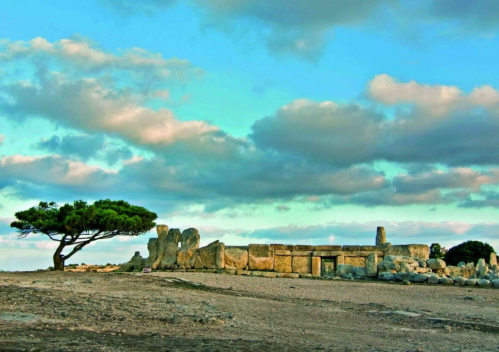 View of Temple of Hagar Qim. Photo © ViewingMalta.com.