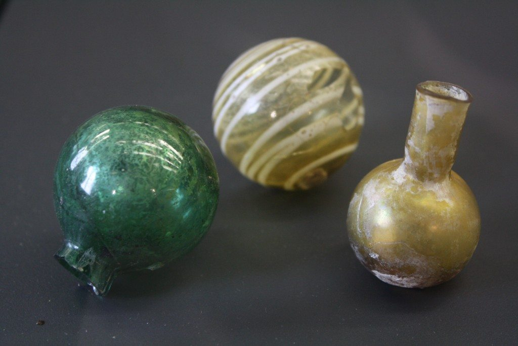Perfume Spheres. Roman glass at the Archaeological Museum of Pavia. Image © Mark Cartwright.