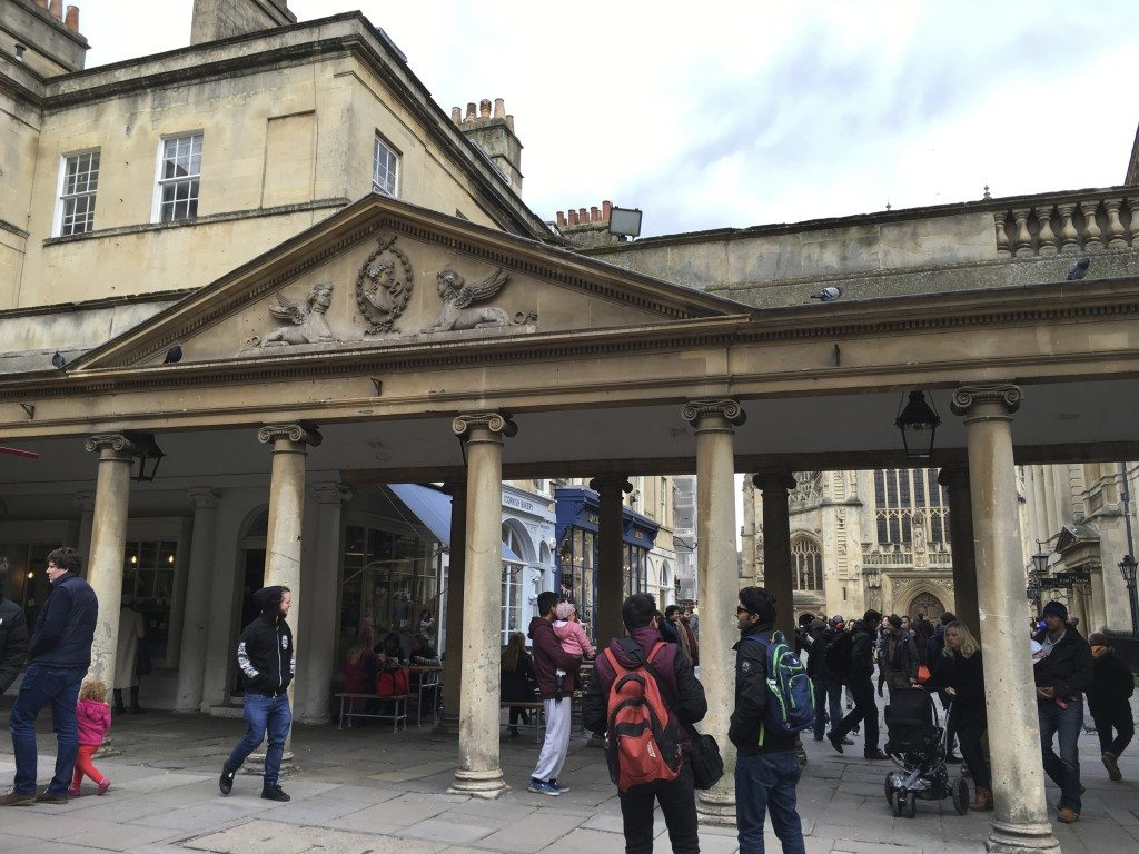 Entrance to the Roman baths. Image © Caroline Cervera.