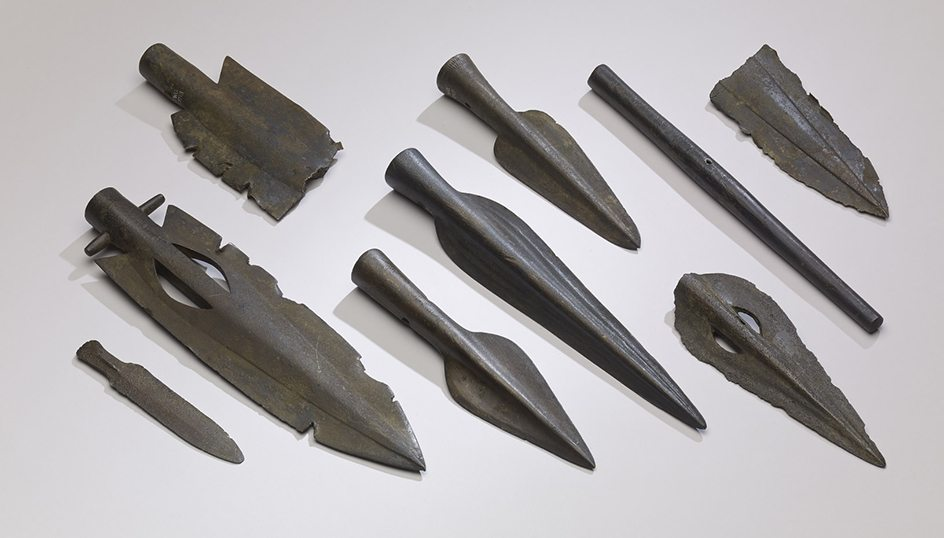 Several impressive dagger and spear points that were thrown into the River Thames and were eventually found in the Broadness Hoard, another of Britain's important hoards.