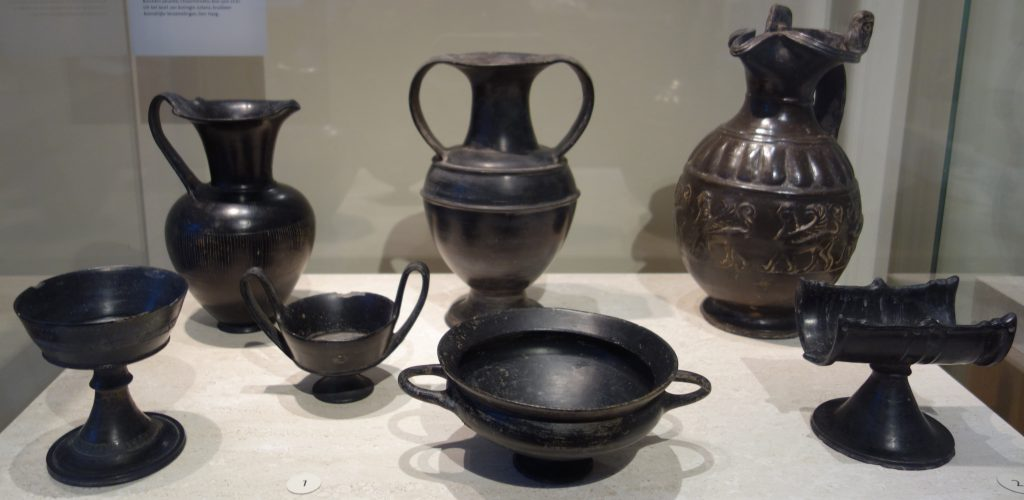 Etruscan black pottery