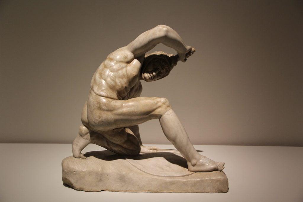 Persian soldier. Image © Caroline Cervera. Hellenistic sculpture.