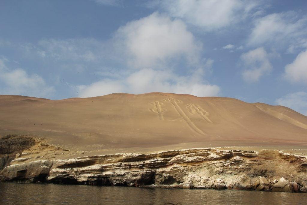 Approaching the Paracas Candelabra by sea. Image © Caroline Cervera. Nazca lines