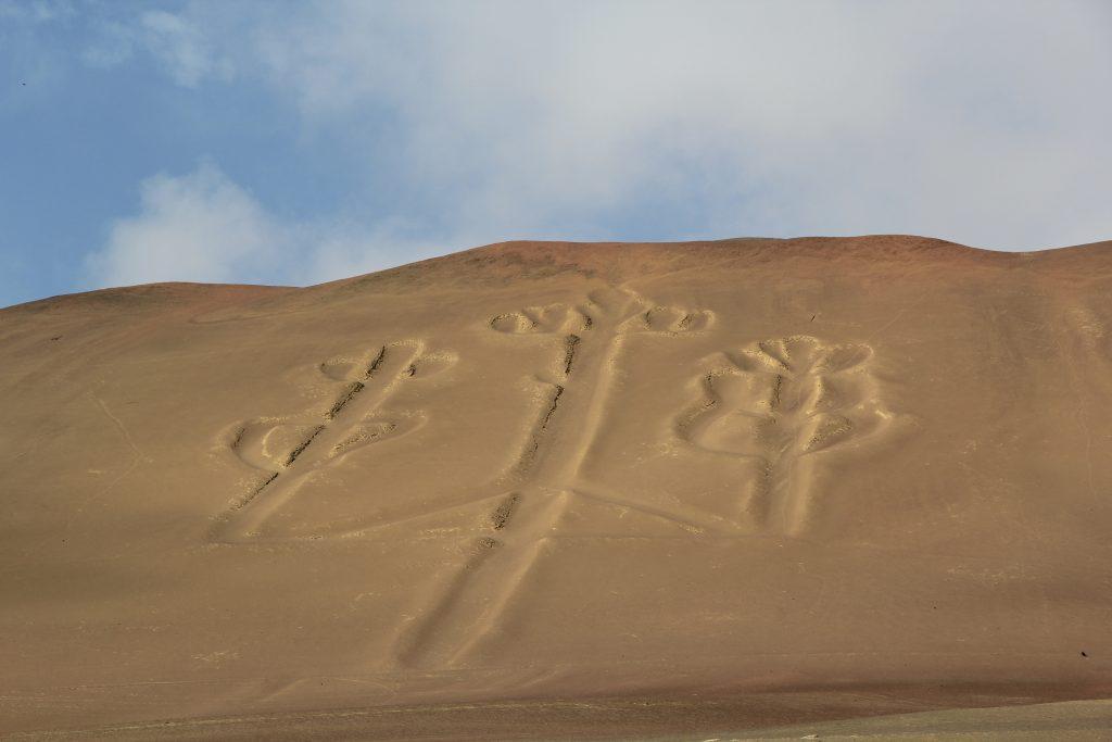 A closer look at the Paracas Candelabra. Image © Caroline Cervera. Nazca lines