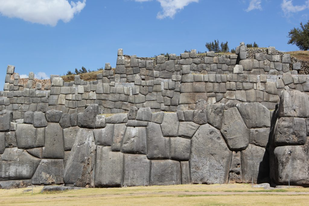 The Incas moved these massive stones to Sacsayhuaman to create this structure located in the hills surrounding Cusco, their capital. Photo © Caroline Cervera.