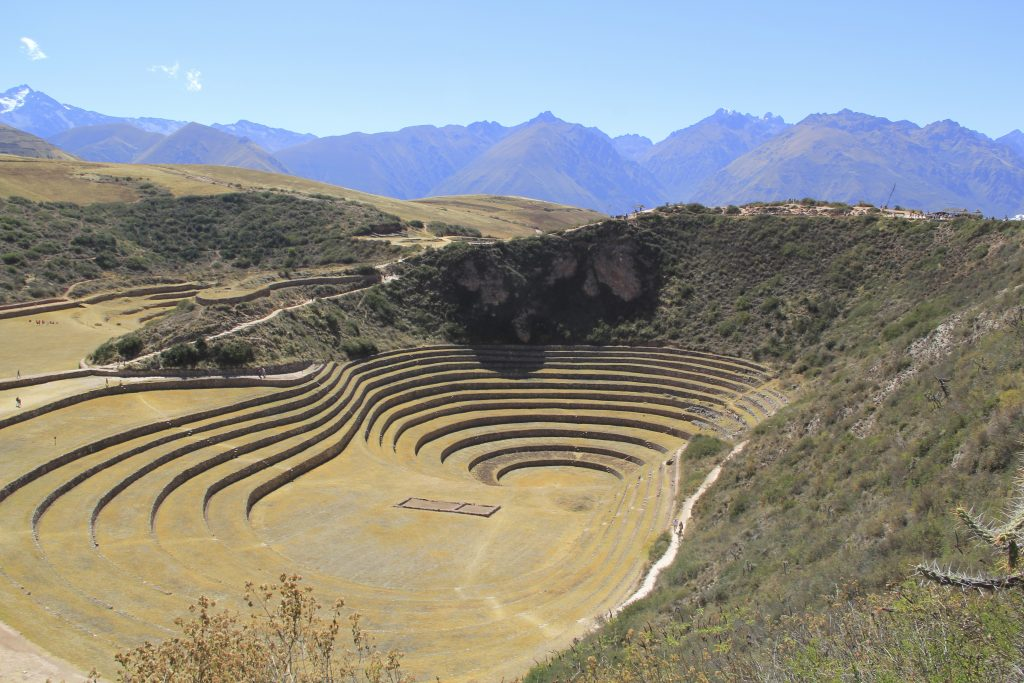 Maras Moray, a site of immense innovation and creativity, is located high in the mountains of Peru. Photo © Caroline Cervera. Inca architecture