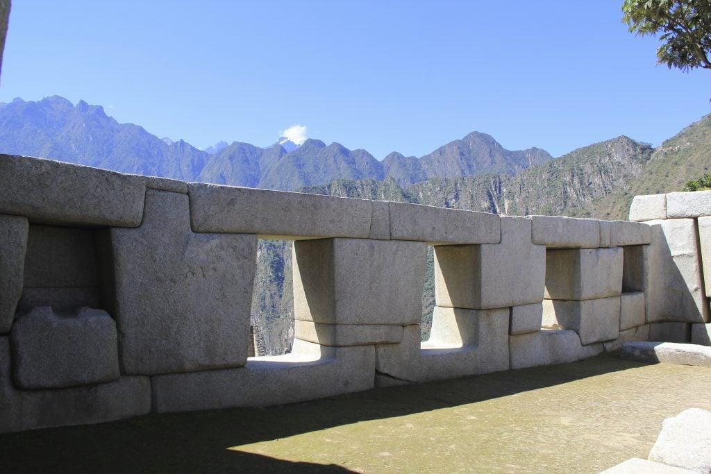These trapezoidal windows overlook the steep mountains surrounding Machu Picchu. Photo © Caroline Cervera. Inca architecture
