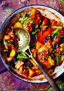 Chicken, Potato, and Prune Hotpot.