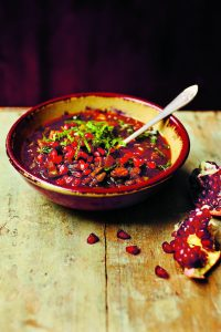 Pomegranate Soup from Azerbaijan.