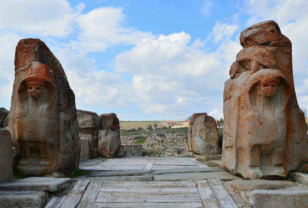 Hittite city of Alacahöyük.