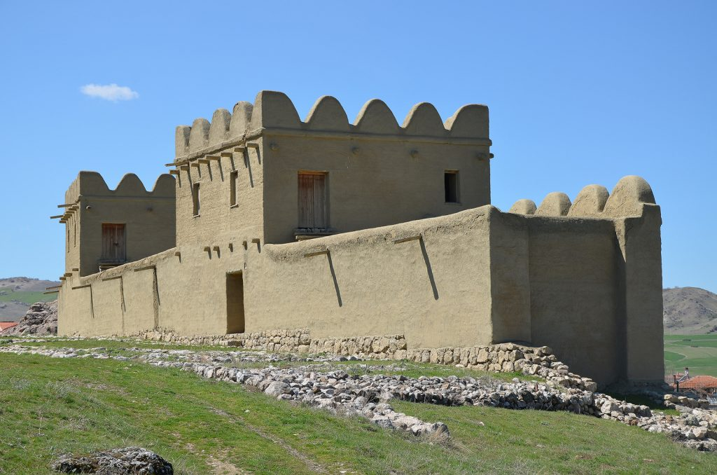 Modern reconstruction of a 65m long section of the city wall made of mud brick with defense towers built at intervals of 20-25 metres. The reconstructed part rests on top of the original Hittite foundations. The inner city wall shielded the area of the Great Temple and adjacent settlement.