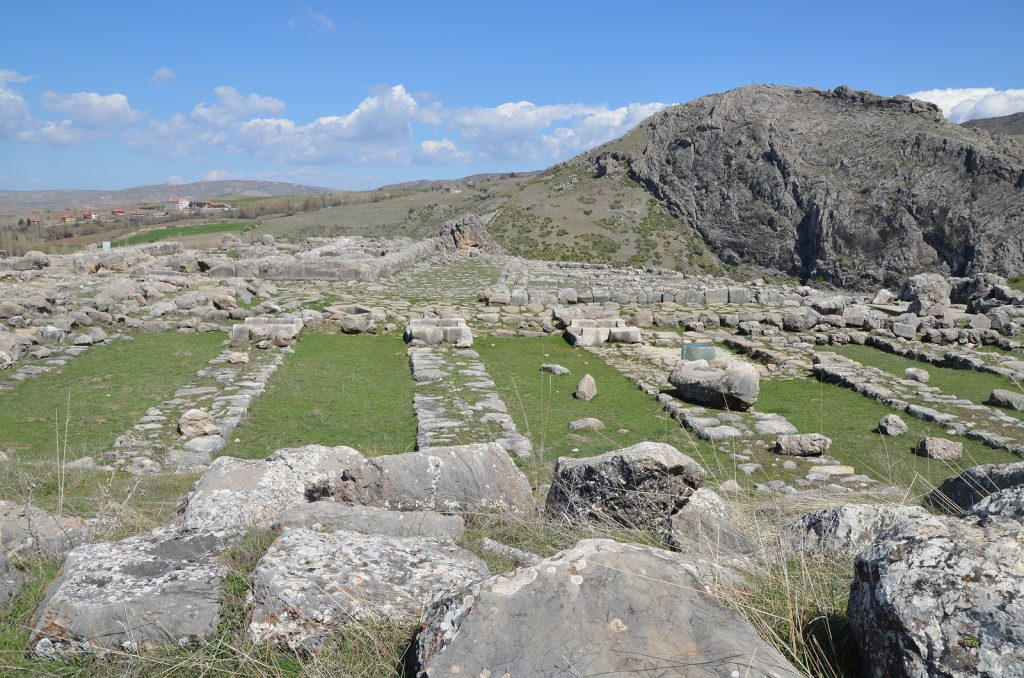 The area of the Hittites' Great Temple with storerooms surrounding the temple proper.